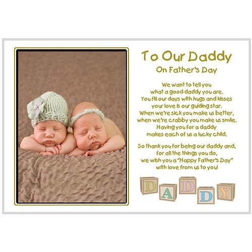 Fathers Day Gift from daughters and sons - Daddy poem from 2 or more kids including twins - Add photo after delivery