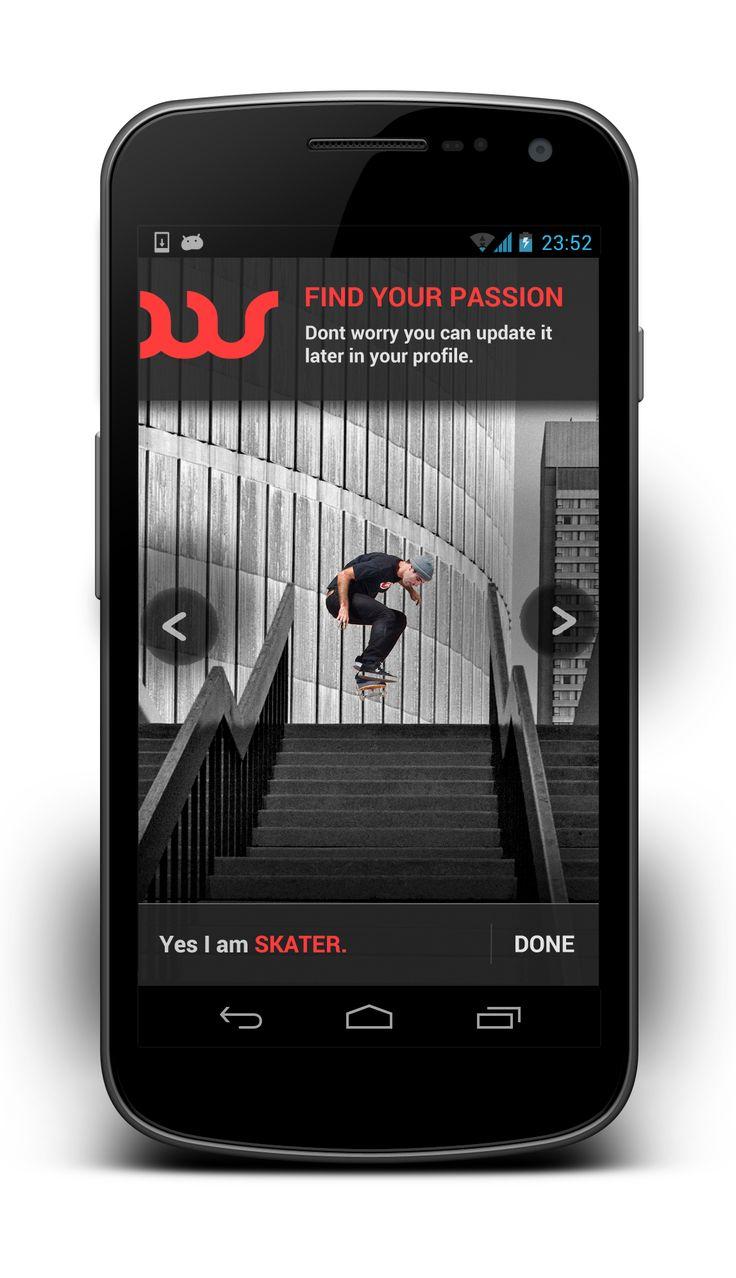 sport picker screen