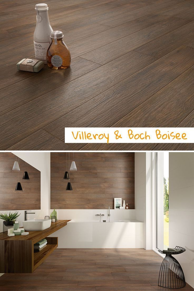 Holz im Badezimmer? #Villeroy und Boch #Boisee - Fliesen in