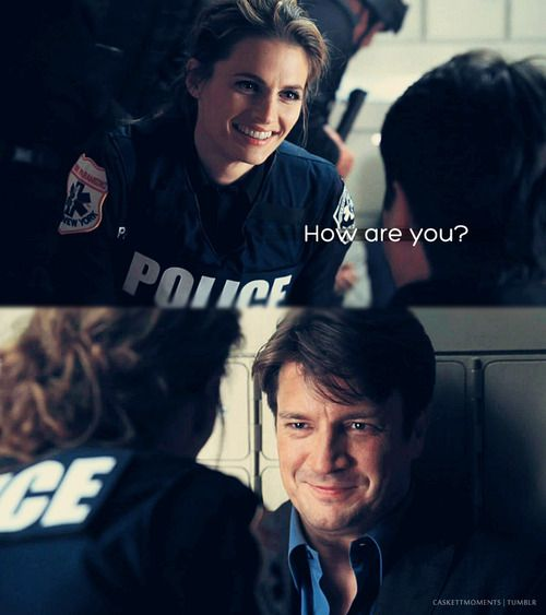 Caskett moments- after hearing that explosion in the bank, then her joy at finding him alive.  I love how obvious it is on her face