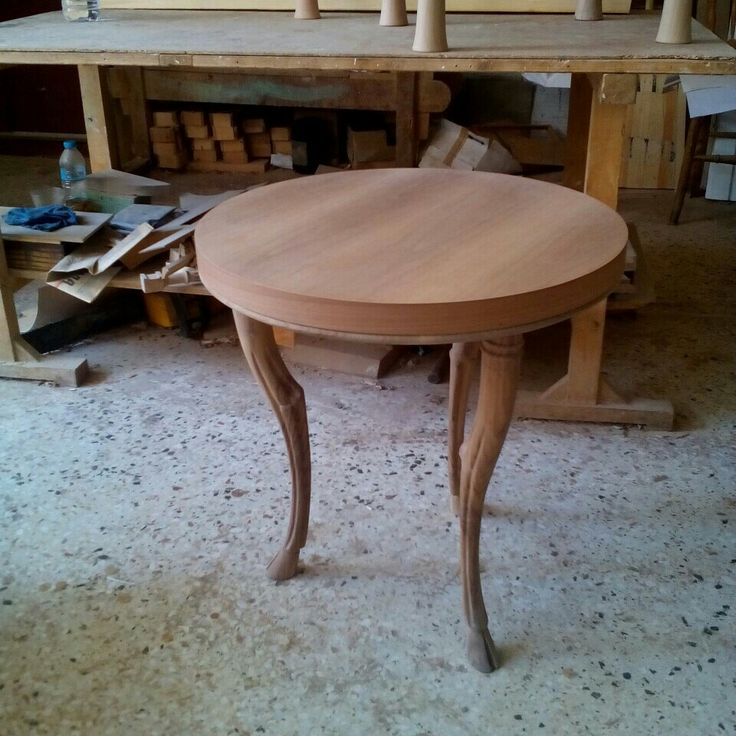 Trapeza table before paint