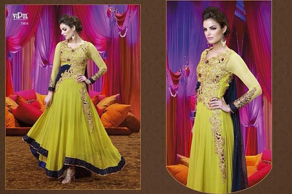 Bollywood Designer Anarkali Indian Pakistani by MaahRoseClothings