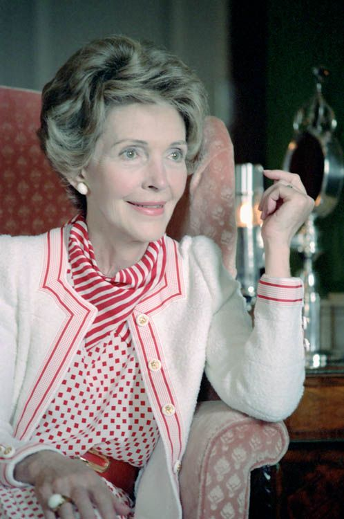 Seriously.  It's like she was in the White Stripes or something | 37 Reasons Why Nancy Reagan Was The Ultimate First Lady