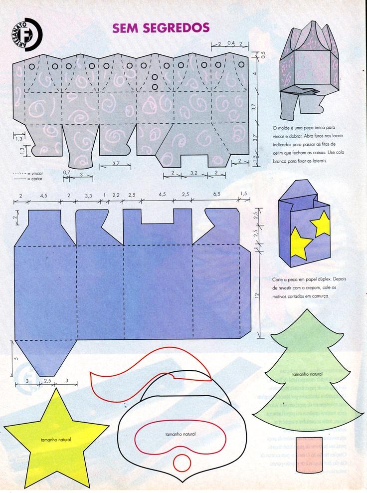 Embalagens para presentes (moldes)
