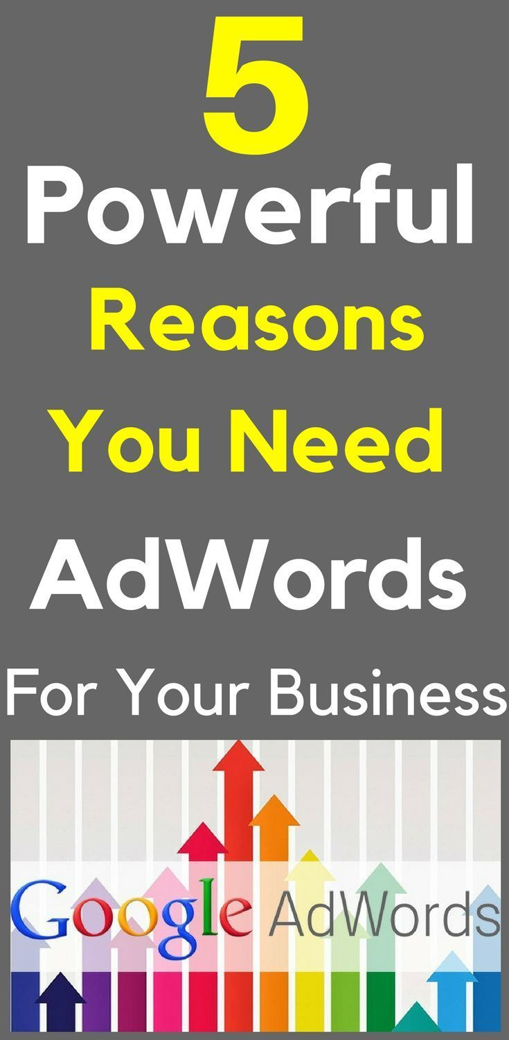 What is Google AdWords and Why Do I Need It? How do you stand out from the competition and get more customers to visit your website? AdWords are the websites listed at the top and down the right side of every Google search. These are the websites that grab the searchers attention first.  5 Powerful #Reasons You Need #AdWords To Grow Your #Business