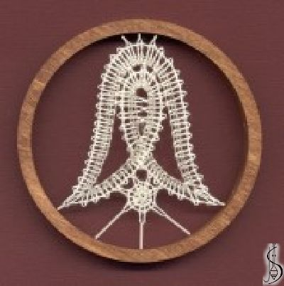 No. 10466 Dark / light frame without glass, diameter 8 cm. Price: € 9 ............................ Protected by copyright!