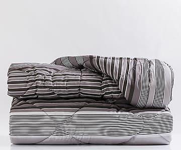 Trapunta matr. in percalle Savile grigio scuro - 260x270 cm