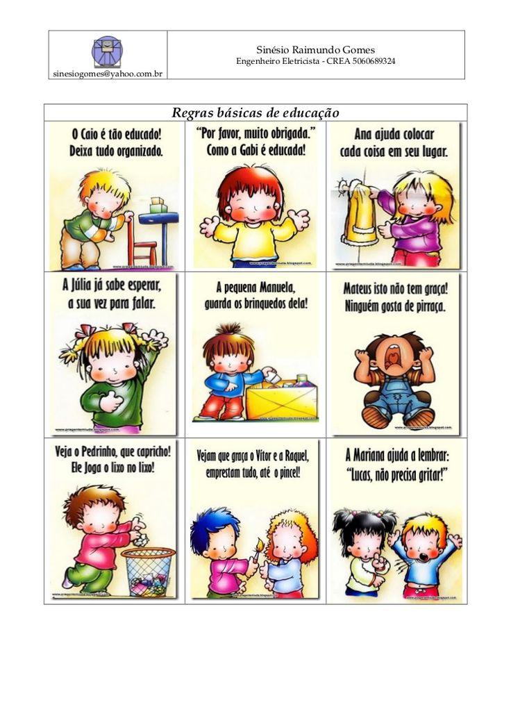 regras básicas de educação