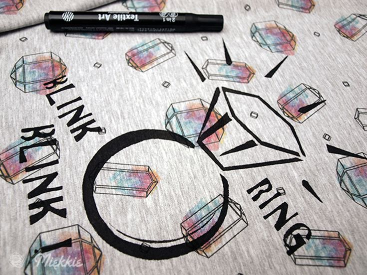 DIY Ring Blink - tutorial how draw. Free pattern. By Miekkie.
