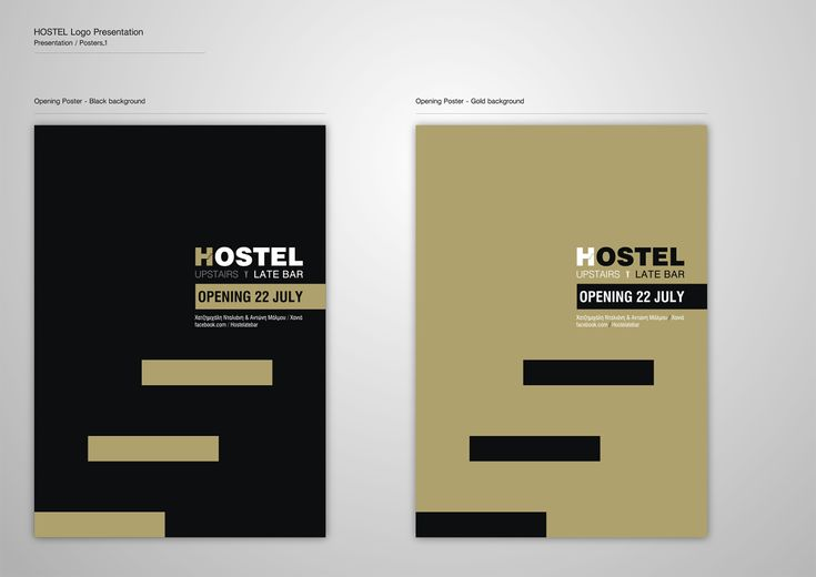 Corporate Identity Hostel_Upstairs_Late Bar_Posters_1_Yianart