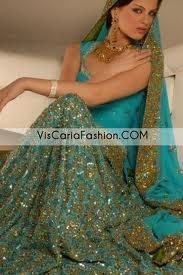 Google Image Result for http://www.viscariafashion.com/wp-content/uploads/ferozi-blue-antique-bridal-wear-lehenga.jpg