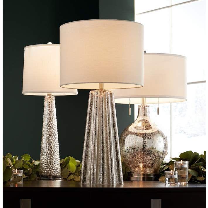 Possini Euro Louie Mercury Glass Table Lamp 23y56 Lamps Plus Table Lamp Mercury Glass Table Lamp Glass Table Lamp