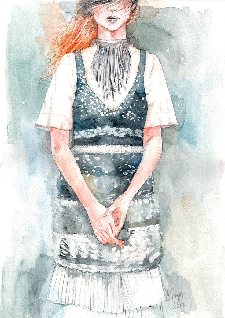 Illustration By Nina Sibiratkina Watercolours. 2016