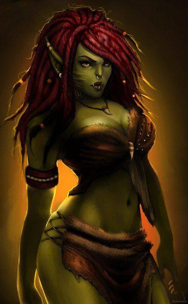 Warcraft Female Ork - More at https://pinterest.com/supergirlsart/ #orc