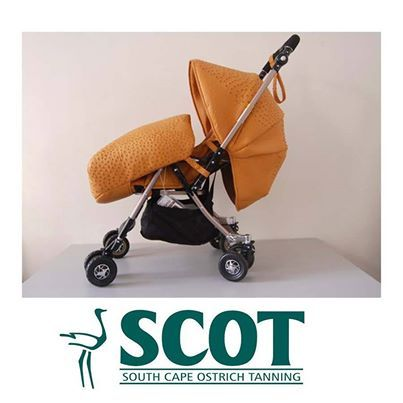 Stroll with your baby in style with this elegant ostrichleather baby stroller! #ostrichleather #ostrich #baby