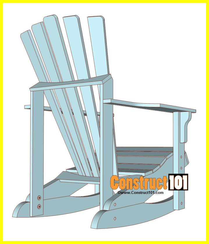 87 Reference Of Chair Drawing Back View In 2020 Adirondack Rocking Chair Rocking Chair Plans Diy Rocking Chair
