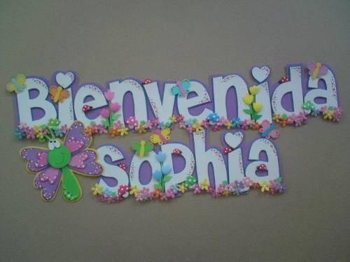 Letreros de fomi para baby shower - Imagui