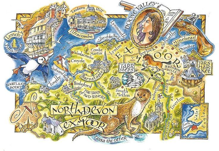 David Hobbs - Map of North Devon and Exmoor