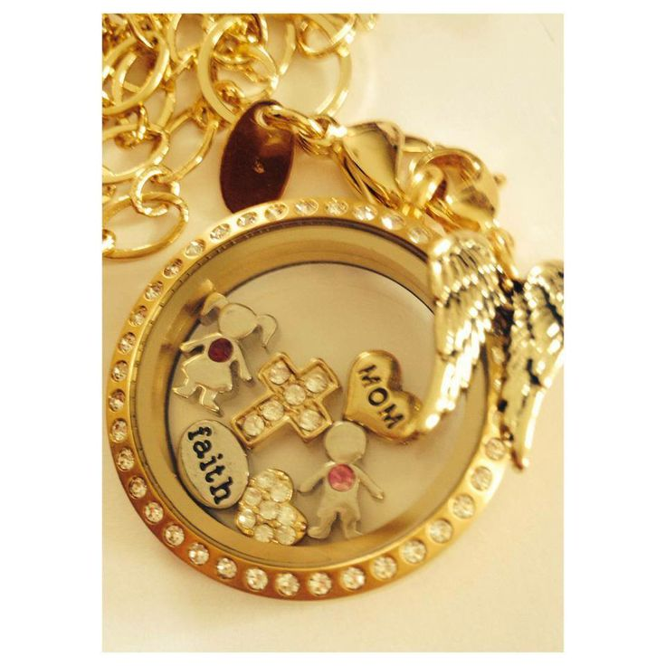 #gold #locketandcharms Shop online for your Origami Owl design at my site: click on the pic to order