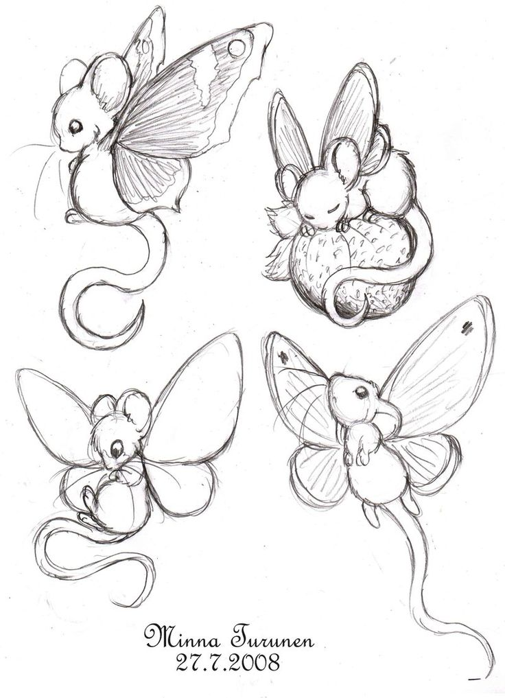 fairy sketches | Fairy-mouse sketches by Amarathimi