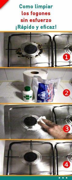 Como limpiar los fogones sin esfuerzo. ¡Rápido y eficaz!