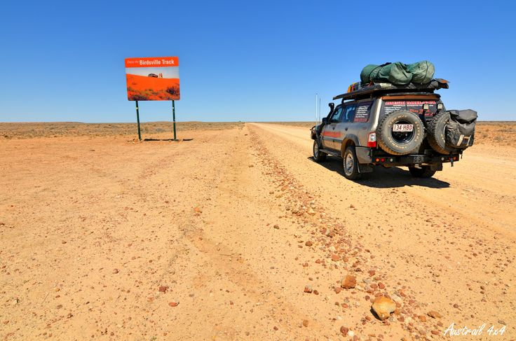 Birdsville Track, South Australia. / Stretching 520km (323miles) from Marree in South Australia to Birdsville in Queensland. One of the best known and loneliest roads in Australia. You need to travel well prepared for all sorts of contingencies! As always when traveling in the Outback you should advise someone of details of your trip and a rough time of expected arrival.