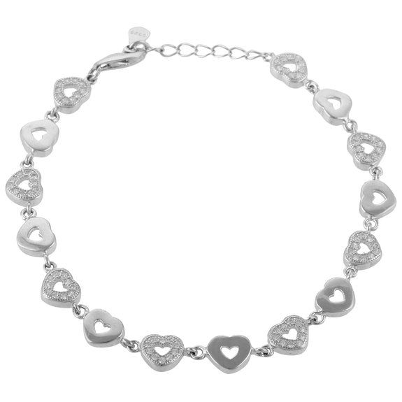 Define Jewellery Silver American Diamond bracelet for Women (DFBC0005 )