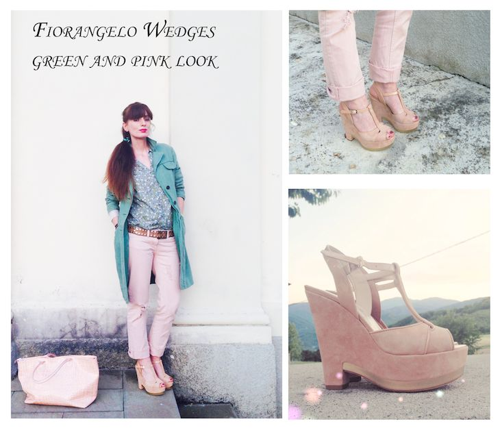 #green #pink #pastel #pastelcolors #shoes #wedges #style #fashion #girl #spring #summer #trend #coat #denim #accessories #fashionblog #fashionblogger #madeinitaly #Green  @ALTOITALIANO  coat pastel pink denim outfit - verde rosa cipria, zeppe Fiorangelo, brand made in italy altoitaliano, idee outfit pastello, cappotti ...
