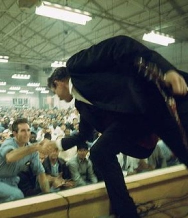 Johnny Cash performing at Folsom Prison, 1968 and that is actually my favorite recording of that song.