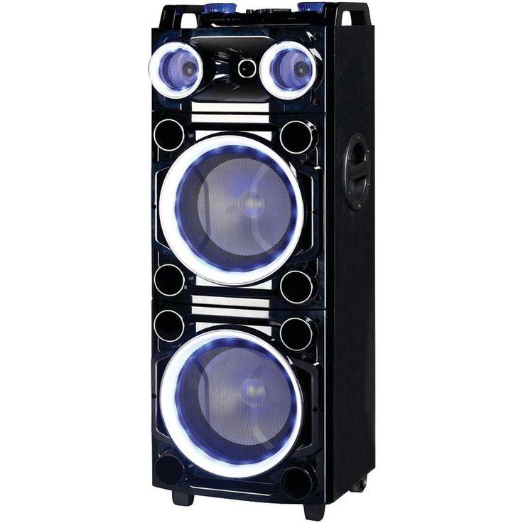Supersonic IQ-6210DJBT PRO 2 x 10 Bluetooth(R) DJ Speaker