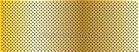 High resolution concept conceptual yellow golden metal stainless steel aluminum perforated pattern texture mesh banner background — Stock Photo #100555022