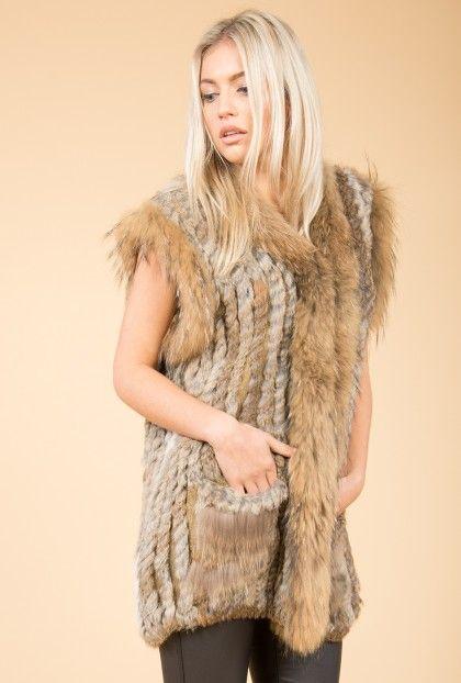 Real Fur Gilet | Jayley Mocha Fur Gilets