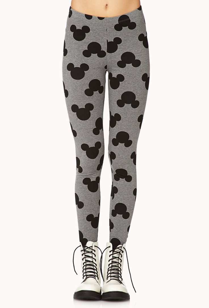 Mickey Mouse Printed Leggings - I'm not brave enough to wear these. Are you?