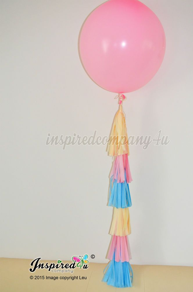 DIY Pink Balloon Hand Cut Tail Tassel Baby Shower Birthday Wedding Party 36