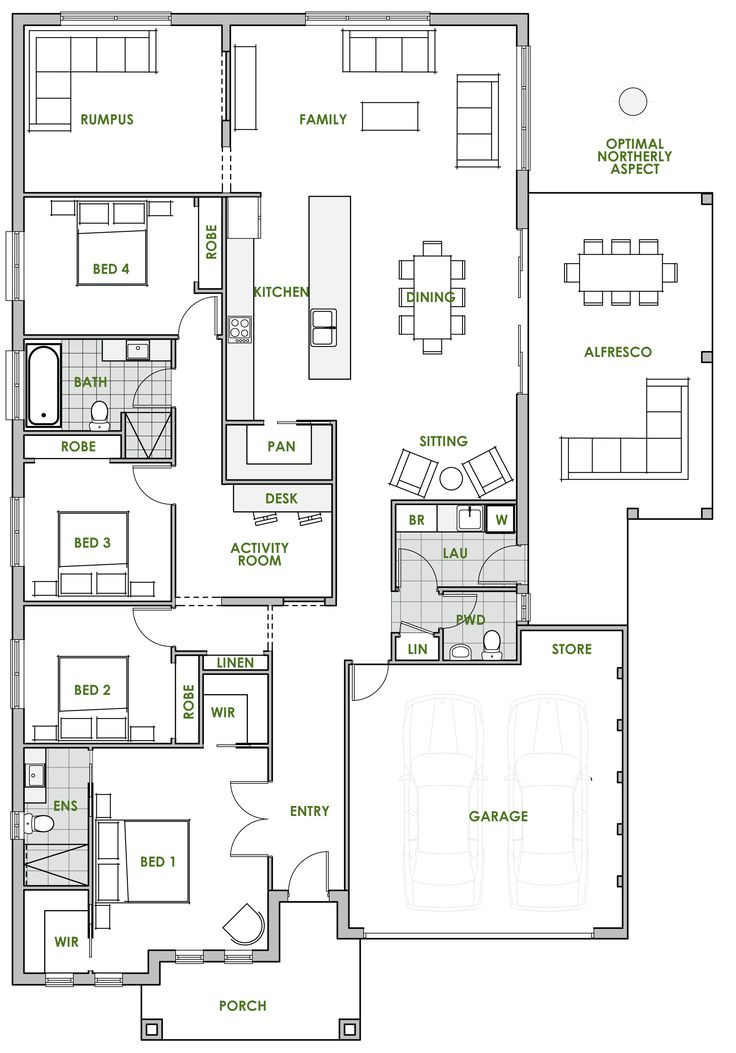 The Ningaloo offers the very best in energy efficient home design from Green Homes Australia. Take a look at the floor plan here.