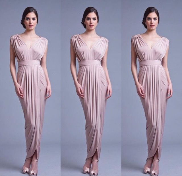 Carla Dress by Pia Gladys Perey in Rosy Latte. Available now at Nora and Elle Bridesmaids.