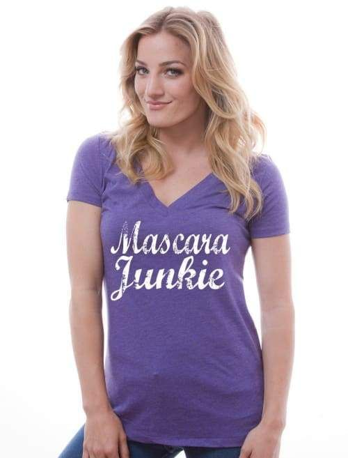 b8f3292c2c4968 Mascara Junkie Vneck Shirt -- Younique Tee V Neck Tee