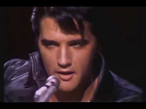 elvis presley blue christmas comeback special 1968 black leather outfit - Blue Christmas By Elvis Presley