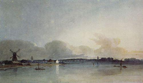 Watercolor landscape, Thomas Girtin, 1800