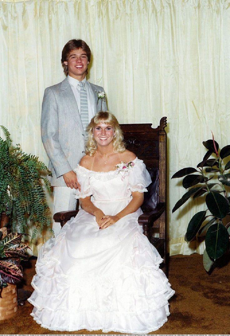 TOP 10 Celebrity Prom photos > Brad Pitt #celebritypromphotos