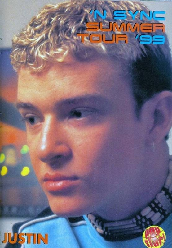 Happy birthday, Justin Timberlake! To celebrate, let's take a look back at his teenage years, specifically, that special time when his hair was gloriously bleached and looked an awful lot like ramen noodles. Ah, the 90s.