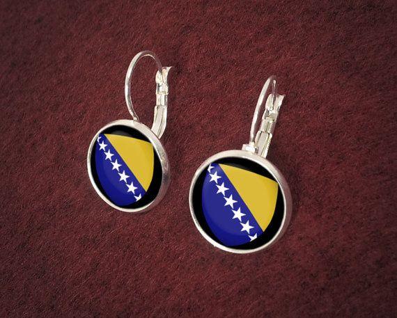 Handmade Silver Bosnia And Herzegovina Earrings by CeruleanEarth, $19.00