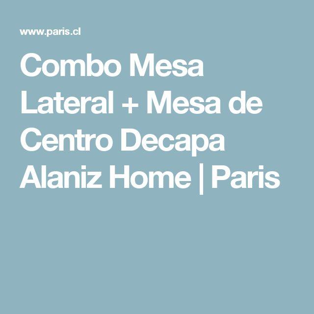 Combo Mesa Lateral + Mesa de Centro Decapa Alaniz Home | Paris