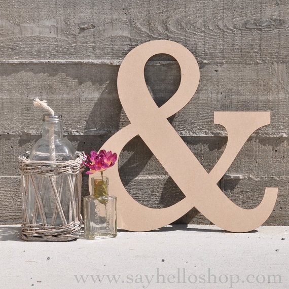 Ampersand mdf wood sign by sayhelloshop on Etsy, $10.00: Ampersand Wood, Wedding Ideas, Wood Signs, Ampersand Mdf, Diy, Wedding Signs, Wooden Ampersand