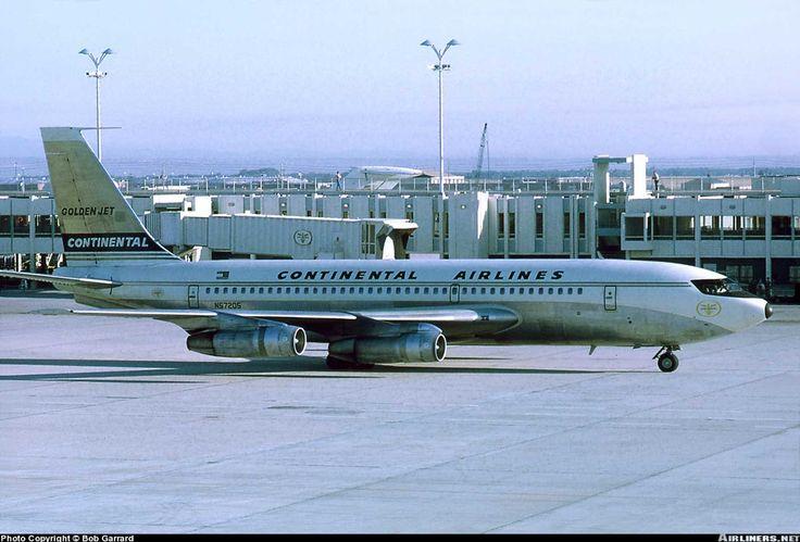 Continental Airlines Boeing 720-024B - Stapleton International Airport - Denver, Colorado - July 1967 Viewliner Ltd.: Aviation