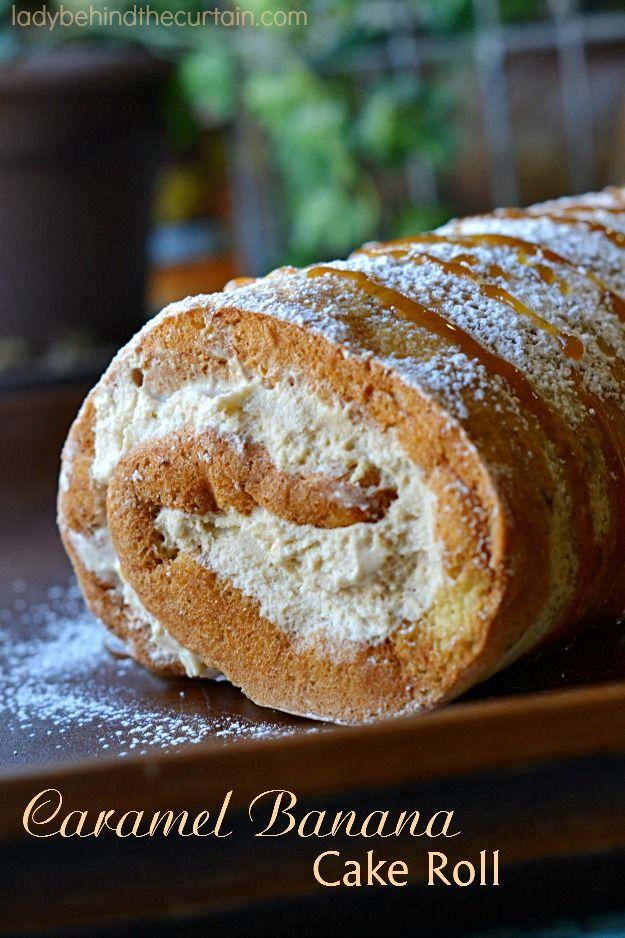Carmelo plátano Cake Roll - Señora Detrás de la cortina