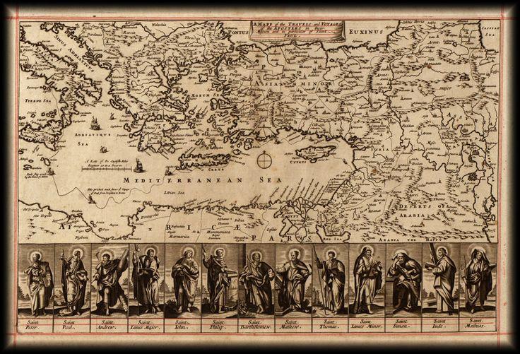 Apostolok utazásai térkép