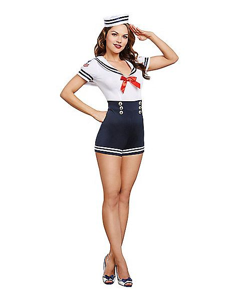 Adult Seafaring in Style Sailor Costume - Spirithalloween.com