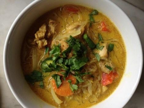Coconut_Curry_Noodle_Soup | Whole 30/Paleo | Pinterest