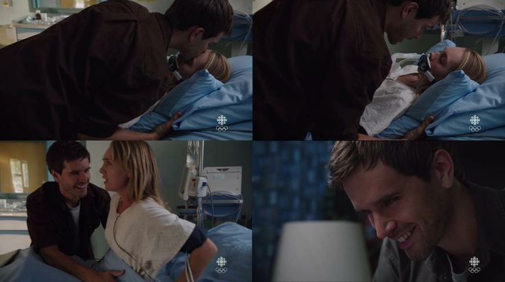 Ty: I'll be right back. I love you. (Ty's kiss wakes Amy - so sweet) <3